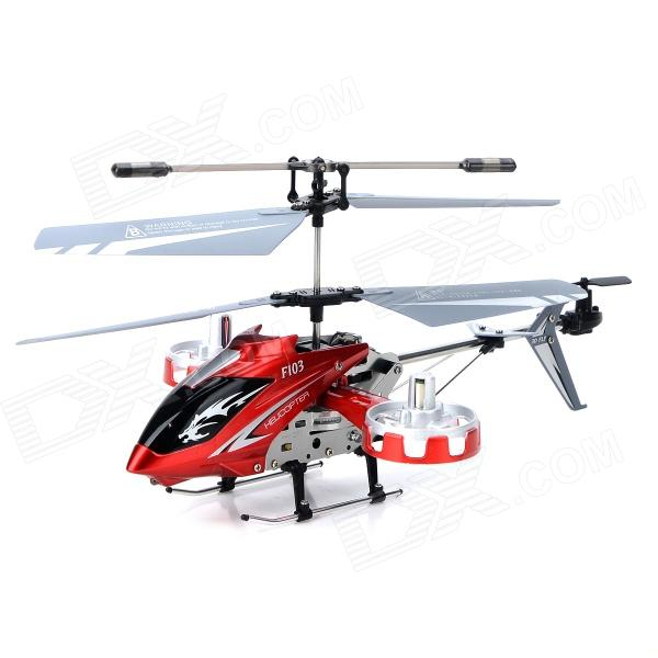 DFD F103 USB Rechargeable 4.5-CH R/C Helicopter w/ Gyroscope - Red + Silvery Grey