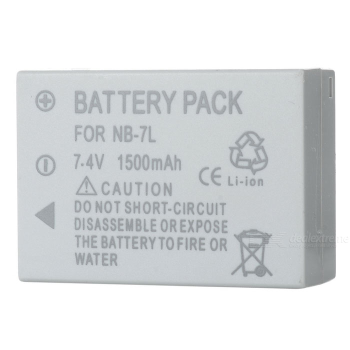 NB7L Compatible 7.4V 1500mAh Battery Pack for Canon G10