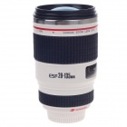 Creative Stainless Steel Simulation DSLR Lenses Thermos Mug Cup w/ Blue Lens Cup Lid - White (400mL)