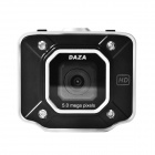 "DAZA A16a 2.0"" LCD 720p 5.0 MP Wide Angle Car DVR w/ G-sensor / 4-LED / Av-Out / TF - Black + Silver"