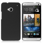 ENKAY Quicksand Style Protective Plastic Back Case for HTC One M7 - Black