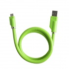 USB 2.0 Male to Micro USB Male Data Sync / Charging Cable Flexible Holder for Samsung + More - Green