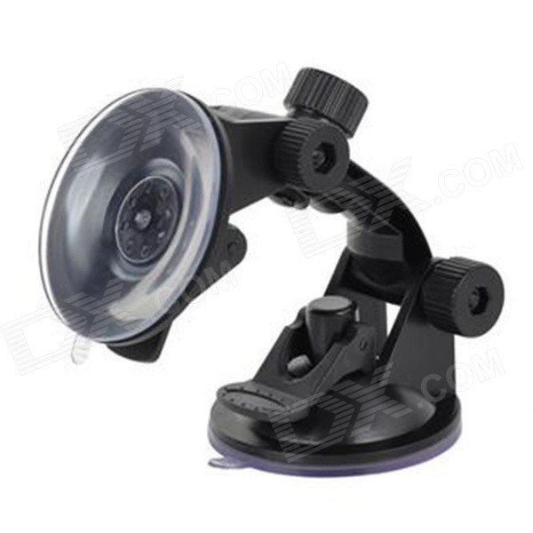 360 Degree Rotatable Double Suction Cup Car Mount Holder for Smartphones / GPS + More - Black universal car swivel mount holder with suction cup for mobile phone white