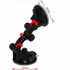 360 Degree Rotatable Double Suction Cup Car Mount Holder for Smartphones / GPS + More - Black