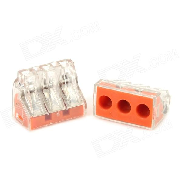 3-Hole Wire Cable Quick Joint / Connector (2 PCS) 4mm hole tube 5mm threaded pl4 m5 pneumatic quick fitting joint connector 5pcs
