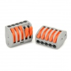 5-Hole Wire Cable Quick Joint / Connector (2 PCS)