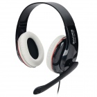 SADES SA-701 Stylish PC / Notebook Primary Gaming Headset w/ Microphone - Black + Red (3.5mm Plug)