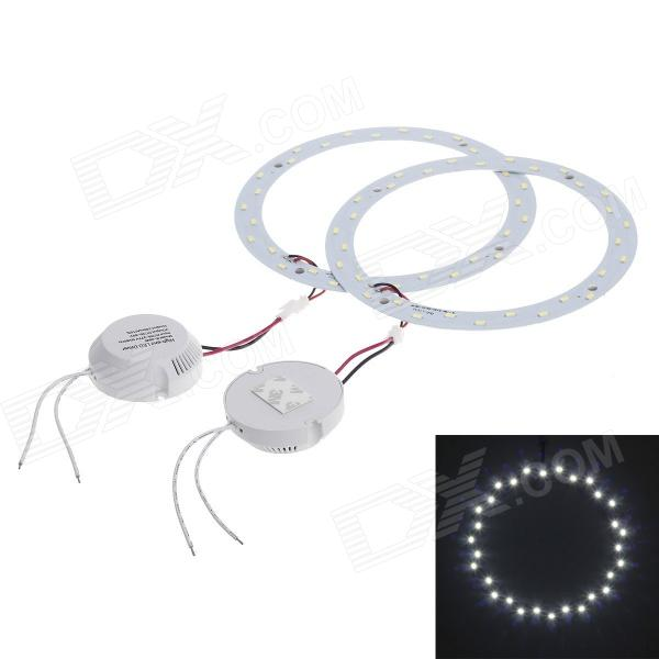 ZY 15W 1600lm 6500K 30-LED White Light Round Ceiling Lamp Source Module - White (85~265V/2 PCS)