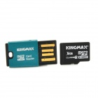 KINGMAX Class10 16GB TF / Micro SDHC Card + TF Card Reader Set