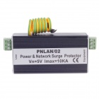 PNLAN/02 Aluminum Alloy Power & Network Surge Protector - Black