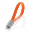 Magnetic Micro USB Male to USB 2.0 Male Data Sync / Charging Cable for Samsung, Google, Sony -Orange