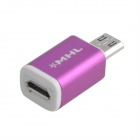 Mini Style Micro USB 5-Pin Female to Micro 11-Pin Male Adapter for Samsung Galaxy - Purple