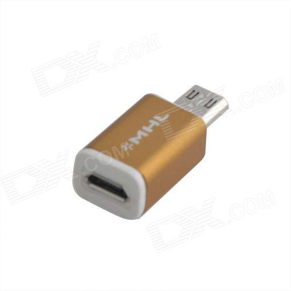 Mini stil Micro USB 5-Pin hona till Micro 11-Pin hane Adapter för Samsung Galaxy - Golden
