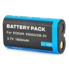 K8000 Compatible 3.7V 1800mAh Battery Pack for Kodak Z612/Ricoh R1 + More