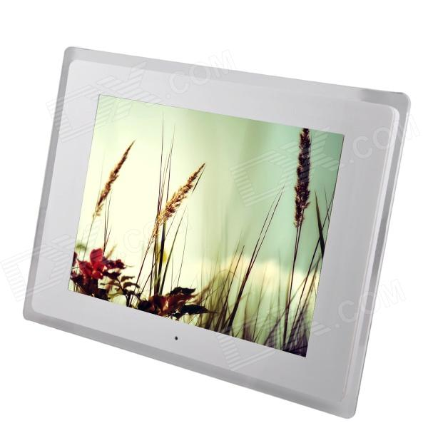 "12 ""LED de sobremesa Digital Photo Frame w / SD / MMC / USB / auriculares / DC En Slot - Blanco (16 MB)"
