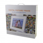 "12 ""LED de sobremesa Digital Photo Frame w / SD / MMC / USB / auriculares / DC En Slot - Negro (16 MB)"