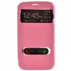 TEMEI PU Leather Case w/ Visual Window / Slide to Unlock for Samsung Galaxy Grand Duos i9082 - Pink