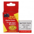 Compatible 3.7V 1500mAh Battery Pack for Casio EX-P505/EX-P600 + More