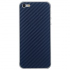 Elonbo F91L Decorative Protective Carbon Fiber Cover Skin Stickers Set for Iphone 5 - Deep Blue