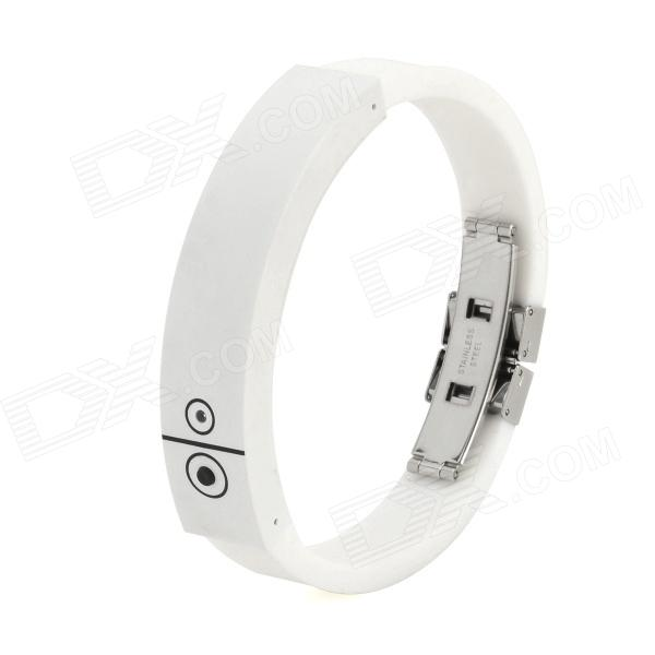 Cellphone Incoming Calls / Anti-lost Vibrating Reminding Bluetooth V2.0 Bracelet - White bluetooth v4 0 smart watch silicone wrist bracelet with incoming calls reminder