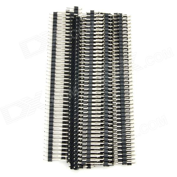 40-Pin 2.54mm Pitch Pin Headers - Black (20PCS)