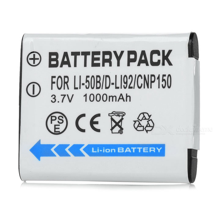 Olympus Li-50B Compatible 3.7V 925mAh Battery Pack for Olympus µ1010/µ1020 + More ismartdigi replacement li 50b 3 7v 920mah battery for olympus mju tough tg 160 more