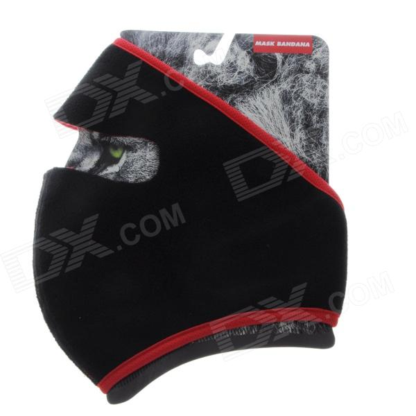 QINGLONGLIN Micro Fiber Cold-Proof Outdoor Riding Sports Face Mask - Black + Red