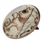 Little Dog Pattern Ancient Palace Bronze Brooch Badge - White + Brown