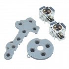 Replacement 3D Analog Joystick + Conductive Pad for Xbox 360 - Silver + Grey