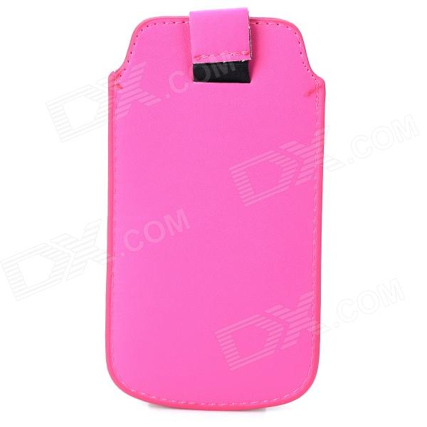 Protective PU Leather Pouch Bag for Iphone 5 / 5s - Deep Pink protective pu leather bag pouch with for iphone 5 blue white