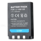 Li-12B 3.7V 1500mAh Battery Pack for Olympus Camedia X-1/X-2 - Black
