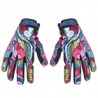 QEPAE F7508 Sports Cycling  Anti-Slip Breathable Full-Finger Gloves - Multicolored (Size L / Pair)