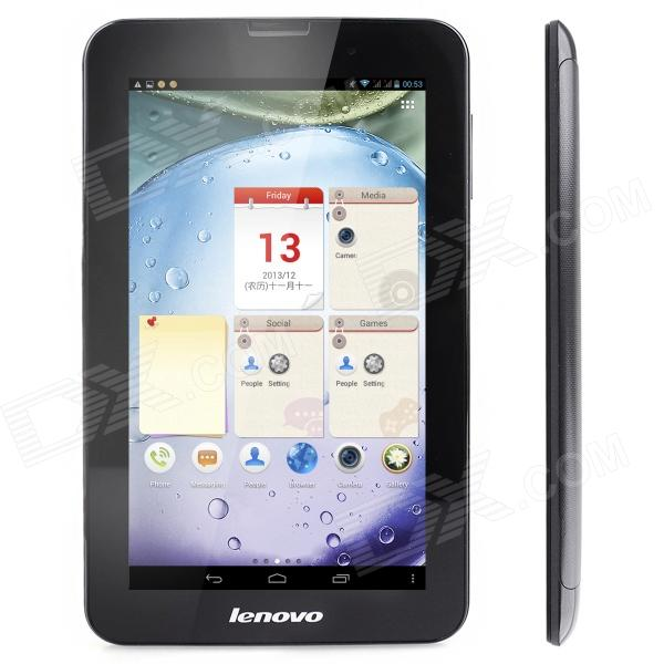 Lenovo A3000 7 IPS Quad Core Android 4.2 3G Phone Tablet PC w/ 1GB RAM, 16GB ROM, Bluetooth - Black colorfly g718 7 ips octa core android 4 2 wcdma 3g tablet pc w 1gb ram 16gb rom wi fi bluetooth