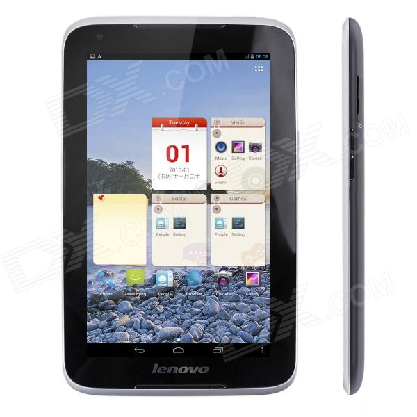 Lenovo A1020 7 Dual Core Android 4.1 3G Phone Tablet PC w/ 1GB RAM, 16GB ROM, Bluetooth - Black q79 7 9 ips dual core android 4 1 tablet pc w 16gb rom 1gb ram 3g 2g phone bluetooth