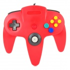 Wired Dual-Vibration Controller for N64 - Red