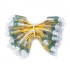 F8 5W 100lm 50-LED Yellow Light Festival Ball Light Stripe (Cable-3m)