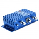 A5 Car / Motorcycle Stereo Sound Amplifier - Blue + Silver