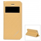 KALAIDENG Flip-open PU + PC Case w/ CID Window + Holder for Iphone 5 / 5s - Golden