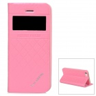KALAIDENG Flip-open PU + PC Case w/ CID Window + Holder for Iphone 5 / 5s - Pink