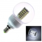 E14 6W 180lm 5500K 120 x SMD 3528 LED White Energy Saving Light Bulb (AC 220~240V)