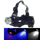 Sky Eye K11-3 2 x Cree XM-L T6 800lm 3-Mode White + 1-Mode Blue Light Headlamp - Black (2 x 18650)
