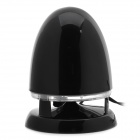8001 Bullet Head Style USB Speaker - Dark Red + Black