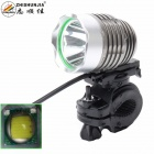 ZHISHUNJIA 360 Degree Rotation 1 x Cree XM-L T6 900lm 4-Mode White Bicycle Headlight - Grey + Silver