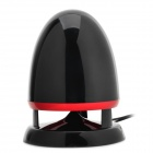 Bullet Head Style USB Speaker - Black + Red