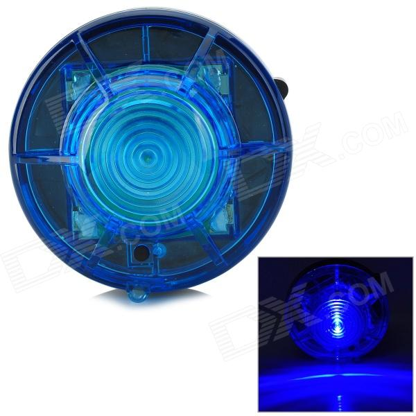 HL-880 LED Blue 2-Mode Anti-Pressure Warning Light for Car - Black + Blue (4 x AA)