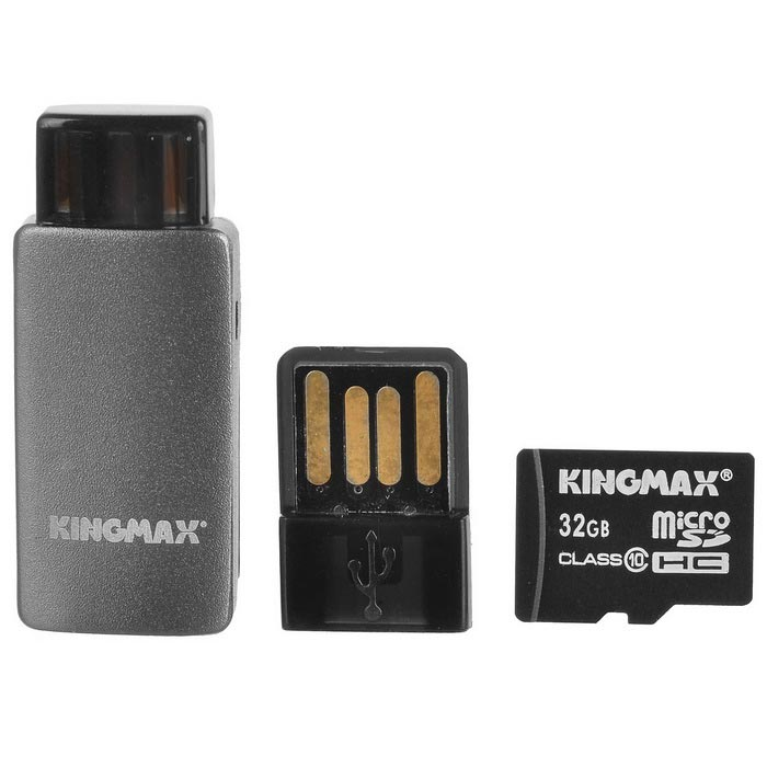 KINGMAX Class10 32GB TF / Micro SDHC Card + TF Card Reader Set память оперативная kingmax flgg45f
