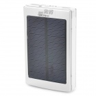 """30000mAh"" Solar Powered Dual USB Li-ion Polymer Battery Power Bank w/ LED / Flashlight - Silver"