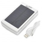 """30000mAh"" Li-ion Battery Dual USB Solar Power Bank w/ LED - Silver"