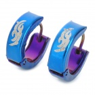 SHIYING G4ED5C1FF447B6 Fashion Totem Pattern 316L Stainless Steel Earrings for Men (Pair)