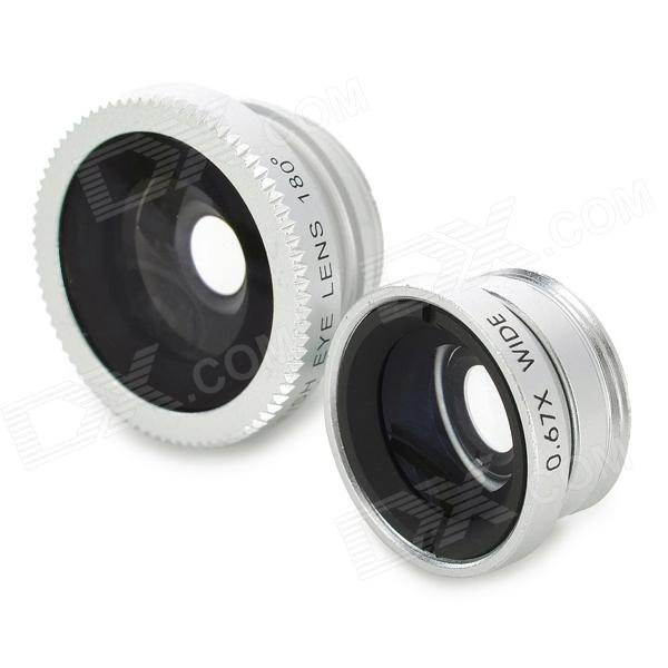 LX-P301 0.67X 3-in-1 Wide Angle + Fish Eye + Macro Lens for Iphone / HTC / Samsung + More - Silver